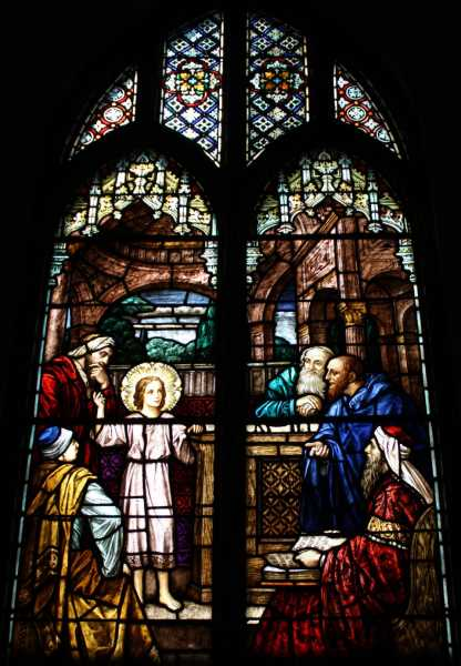 Stained-Glass-Church-Windows-Jesus-in-the-Temple