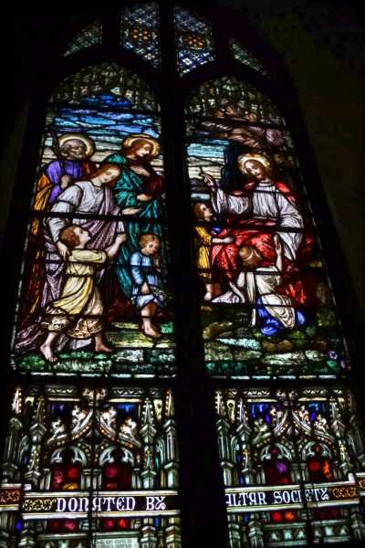 Stained-Glass-Church-Windows-Jesus-with-the-Children