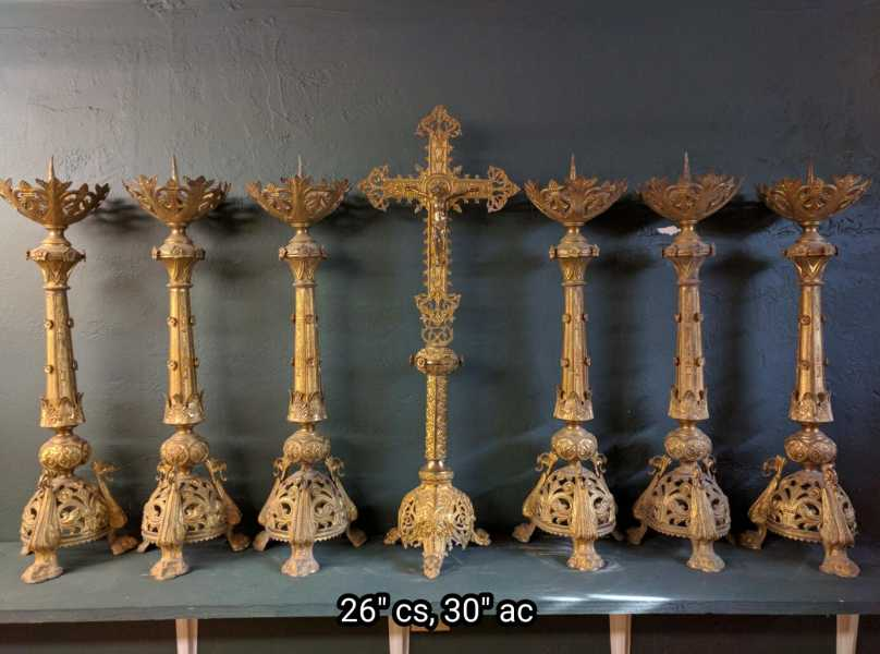 Stunning-Antique-Altar-Candlesticks-2