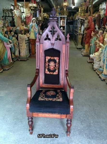 Antique-Catholic-Church-Chair-7