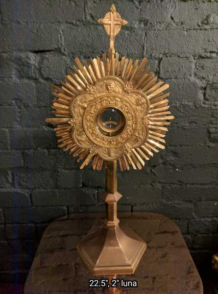 Used-Church-Antique-Monstrance--88