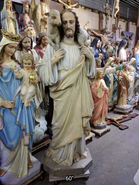 Antique-Jesus-Carrying-Lamb-Statue